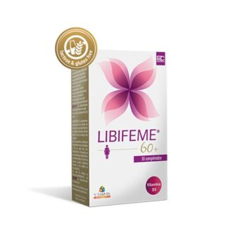 Libifeme 60+ 30 Comprimidos especialmente desenvolvido para mulheres na pós-menopausa que têm desconforto íntimo crescente, devido à redução / falta de lubrificação vaginal na menopausa.
