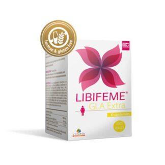 Libifeme Gla Extra 30 Cápsulas especialmente desenvolvido para mulheres com desconforto físico e psicológico devido à SPM (Síndrome Pré-Menstrual).