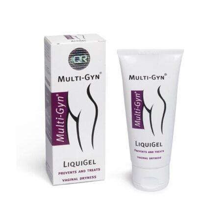Multi-Gyn LiquiGel 30ml produto bioativo que hidrata e lubrifica a zona intima, recuperando os mecanismos de hidratação naturais da vagina.