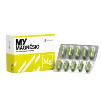 Mymagnésio 30 Comprimidos suplemento alimentar contendo magnésio, vitamina C e vitaminas do complexo B