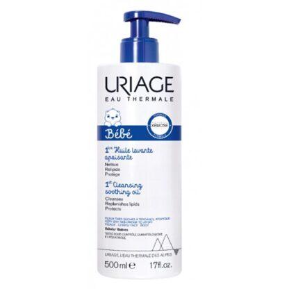 Uriage Bebé 1º Óleo Lavante Apaziguante 500ml óleo que limpa suavemente a pele do bebé, indicado para rosto e corpo.