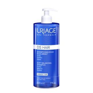 Uriage Ds Champô Suave Equilíbrio 500ml, champô indicado para o tratamento da caspa seca e/ou oleosa.