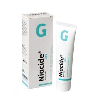 Niacide Gel 50gr creme indicado como adjuvante no combate ao acne, indicado para pele oleosa.