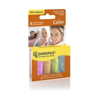 Ohropax Color Tampões Espumas Macia 8 Tampões, traz um pouco de cor para a vida quotidiana – e nos seus ouvidos.
