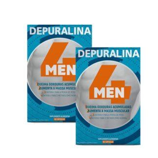 Depuralina 4 Man 2x60 Cápsulas, os citrinos e o Guaraná ajudam a queimar gorduras e adelgaçar. Ajuda a perder peso quando se segue uma dieta baixa em calorias,