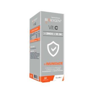 Biokygen Vitamina C + Zinco + Vitamina B6 60 Cápsulas ajuda certamente a aumentar as resistências e a reforçar as defesas do organismo face a constipações e outras afeções próprias do inverno. Bem como todas as situações de fraqueza ao longo do ano.