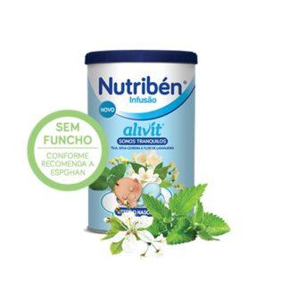 Nutribén Infusão Alivit SONOS TRANQUILOS é feita com plantas medicinais rigorosamente controladas (tília, erva-cidreira e flor de laranjeira), s