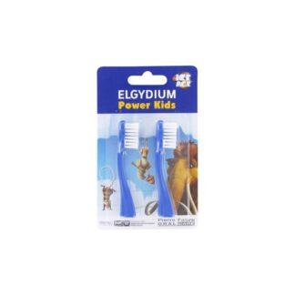 ELGYDIUM Power Kids Recargas de escova de dentes elétrica desenhada para uma escovagem divertida e eficaz.