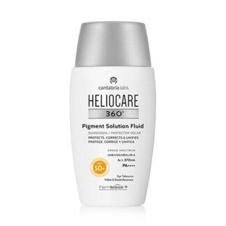 Heliocare 360º Pigment Solution Fluid Spf 50 50ml, fotoimunoproteção muito alta que ajuda a prevenir e reduzir as manchas.