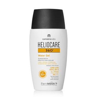Heliocare 360º Water Gel SPF 50+ 50ml gel fotoprotetor aquoso com textura ultraligeira e hidratante de rápida absorção.