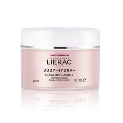 Lierac Body Hydra+ Creme Repulpante 200 ml, o 1º(1) creme de corpo nutri-preenchedor. Reidrata durante 48H e nutre - preenche - refirma