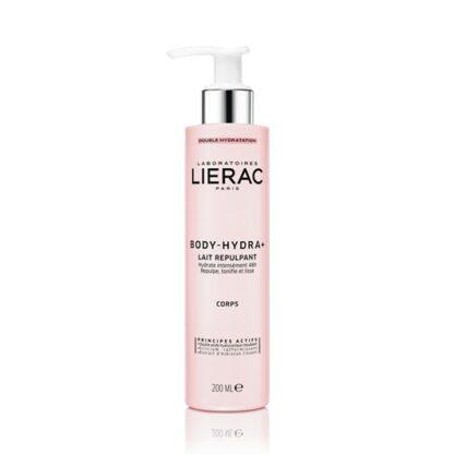 Lierac Body Hydra+ Leite Repulpante 200 ml,o 1º (1) leite corporal hidra-preenchedor. Reidrata durante 48H - preenche - tonifica