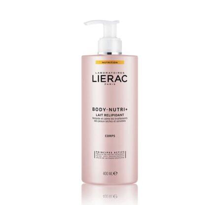 Lierac Body Nutri+ Leite Relipidante 400 ml para Peles secas e sensíveis com ureia, óleo de cártamo e manteiga de karité