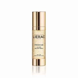 """Lierac Premium La Cure Antienvelhecimento 30ml, efeito potenciador de juventude visível após 28 dias. Uma solução inédita para fazer face ao envelhecimento brutal e acelerado, """"o envelhecimento abrupto""""."""