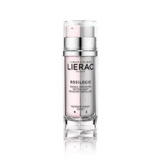 Lierac Rosilogie Duplo Concentrado Vermelhidões 30 ml, o cuidado intensivo neutralizante 24H/24 que corrige as vermelhidões instaladas.