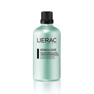 Lierac Sebologie Solução Queatilítico 100ml, o cuidado preparador que atua nos 3 tipos de imperfeições: Brilhos - poros dilatados - borbulhas e marcas residuais