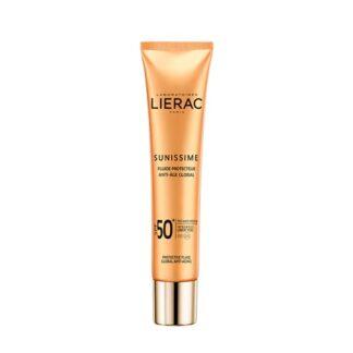 Lierac Sunissime Fuido Protetor Rosto FPS50 40ml, a 1ª gama de cuidados solares antienvelhecimento* que protege do espetro global energizando a pele.