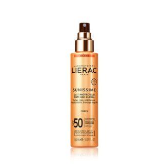 Lierac Sunissime Leite Protetor Global FPS30 150ml, A 1ª gama de cuidados solares antienvelhecimento* que protege do espetro global energizando a pele.