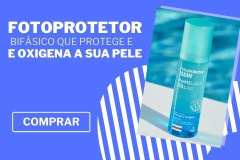 Isdin Fotoprotetor Hydralotion SPF 50+ 200 ml, o primeiro foto protetor bifásico com a finalidade de oxigenar e proteger a sua pele.