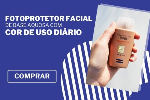 Isdin Fotoprotector Fusion Water Color SPF50 50ml, fotoprotetor facial de base aquosa com cor de uso diário