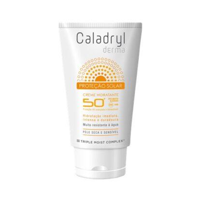 Caladryl Derma Sun Creme SPF50+ 50ml creme com fator de proteção solar muito elevado (SPF 50+), indicado para proteger a pele do rosto da radiação solar UVA/UVB.