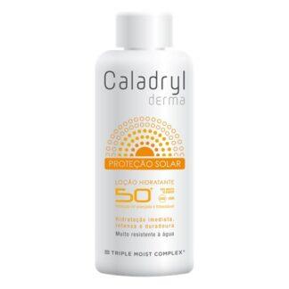 Caladryl Derma Sun Loção SPF 50+ 200ml loção com fator de proteção solar muito elevado (SPF 50+), indicado para proteger a pele do corpo da radiação solar UVA/UVB