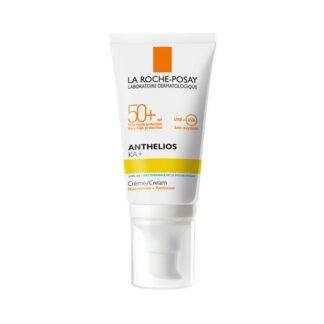 La Roche Posay Anthelios KA+ SPF50+ 50ml ajuda a prevenir danos celulares induzidos pelos UV. Ajuda a apaziguar e a restaurar a barreira cutânea. Resistente a água