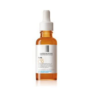 La Roche Posay Pure Vitamin C10 Sérum 30ml, sérum renovador anti-idade altamente concentrado em vitamina C pura, com ácido salicílico e neurosensine apaziguante, a um pH fisiológico, para revelar a luminosidade da pele sensível.