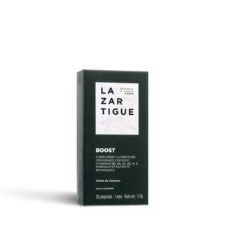 Lazartigue Boost Queda Capilar 30 comprimidos suplemento Alimentar para a queda de cabelo, fornece elementos essenciais para manter o cabelo saudável e preservar a força e vitalidade.