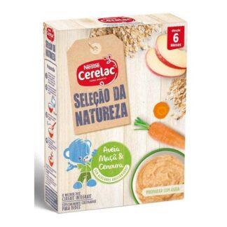 Nestlé Cerelac Selecção da Natureza Aveia Maçã Cenoura Láctea 6m+240g
