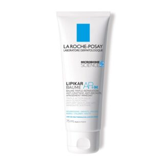 la Roche Posay Lipikar Baume AP+M reequilibra o microbioma da pele. Ação apaziguante imediata. Ajuda a espaçar as crises de secura severa para uma eficácia antirrecidiva. Nutre a pele e restaura a barreira da pele. Formulado para bebés, crianças, adultos com pele muito seca, tendência atópica ou alérgica.