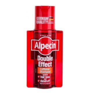 Alpecin Champô Duplo Efeito 200ml, champô, com cafeína, indicado na queda prematura de cabelo associada a casos de descamação do couro cabeludo.