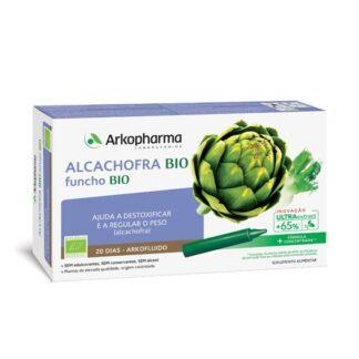 Arkofluido Alcachofra Funcho 20 ampolas A alcachofra contribui para a perda de peso, para o normal funcionamento do fígado e para a eliminação de toxinas. Por outro lado, contribui para uma digestão normal