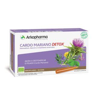 Arkofluido Cardo Mariano Detox é um suplemento alimentar à base de extrato de plantas.
