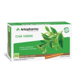 Arkofluido Chá Verde é um suplemento alimentar à base de extrato aquoso de plantas.