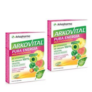 Arkovital Pura Energia 2x30 Comprimidos, para que o organismo os possa absorver melhor, proporcionando uma nova sensação de vitalidade.