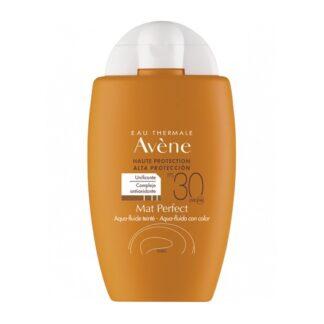 Avène Aqua Fluido Mat Perfect com Cor SPf30 50ml, proteção solar elevada para a pele sensível mista a oleosa