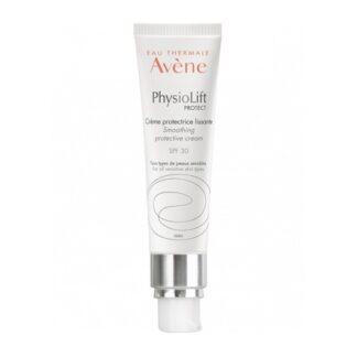 Avène Physiolift Portect creme Protetor Suavizante SPF30 30ml, um creme protetor multifunções. Preventivo e corretivo para uma pele suavizada , uniformizada, luminosa e protegida