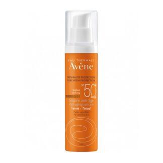 Avene Solar Anti-Idade c/ Cor SPF50+ 50ml proteção muito elevada e anti-idade para a pele sensível.