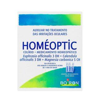 Boiron Homeoptic 10unidadesmedicamento homeopático tradicionalmente utilizado na irritação ou desconforto ocular (por esforço ocular, água do mar ou com cloro, fadiga ocular, ambientes com fumo).