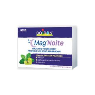 Boiron Mg´Noite 30 Cápsulas,uma formula inovadora que combina 3 ingredientes, magnésio, melissa e polifenóis.