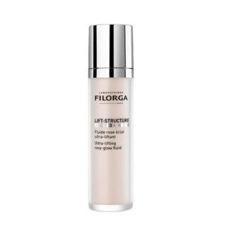 Filorga Ultra-Lifting Structure Radiance 50ml, fluido rosa formulado com ingredientes ativos utilizados em injeções, eficácia lifting intensiva