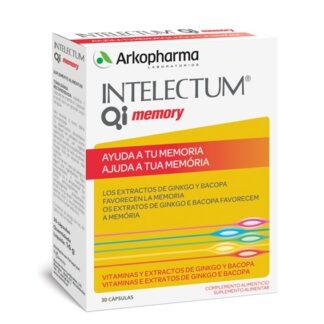 Intelectum QI Memory 30 Cápsulas,é um suplemento alimentar à base de Ginkgo, Bacopa e Vitamina E (Acetato de DL-alfa-tocoferilo), B6 (Piridoxina) e B9 (Folato).
