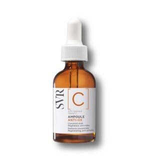 Svr C Ampoule Anti-Ox 30ml, concentrado de luminosidade Regenerador, antirrugas. 20% de vitamina C otimizada para uma pele radiosa após 7 dias