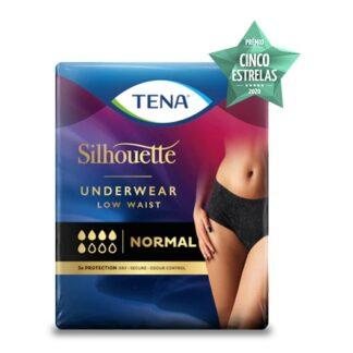 Tena Silhouette Cueca Cintura Baixa Preto L 9Un, parecem as suas cuecas normais, proporcionando a proteção discreta contra problemas urinários moderados