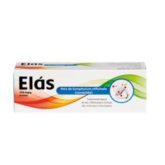Elás 350mg/g Creme 100g, medicamento indicado no tratamento da dor, inflamação e inchaço dos músculos e articulações.