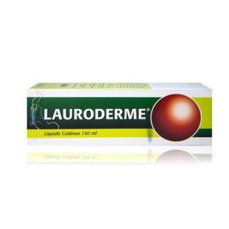 Lauroderme Líquido Cutâneo 150ml, medicamento indicado na desinfeção e higiene da pele e mucosas, feridas superficiais e dermatite da fralda (assaduras).