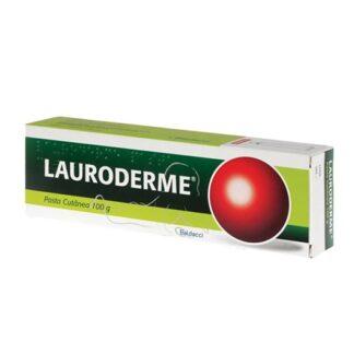 Lauroderme Pasta 100gr, medicamento indicado na desinfeção e higiene da pele e mucosas, feridas superficiais e dermatite da fralda (assaduras).