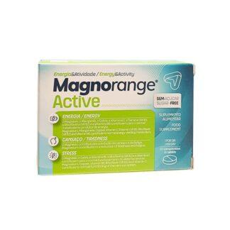Magnorange Active 30 Comprimidos, é um suplemento alimentar que contém vitaminas e minerais. Com a finalidade de reduzir a sensação de fadiga e de cansaço, bem como, contribui para o normal funcionamento do sistema nervoso.