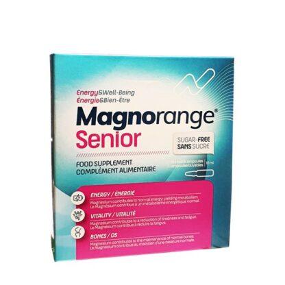 Magnorange Senior 20 Ampolas x 10ml,com a finalidade reduzir o cansaço e a fadiga.